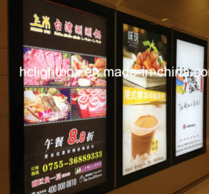LED Slim Wall Mounted Poster Frame Light Box Display pictures & photos