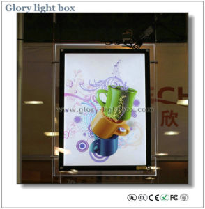 CE Approved Ceiling Hanging Crystal LED Light Box Sign pictures & photos