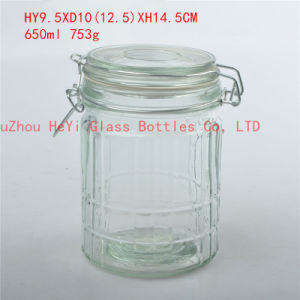 Glass Storage Jar with Seal Lid Food Glass Jar