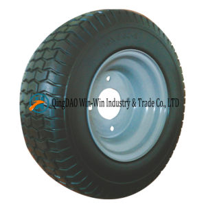 Solid PU Wheel with Spoke Color and Rim (18*8.50-8) pictures & photos