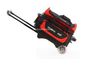 Deluxe Double Black/Red 2 Ball Bowling Bag pictures & photos