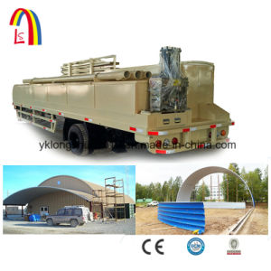 Colored Steel Arch Roof Building Roll Forming Machinery Ls-1000-700 pictures & photos