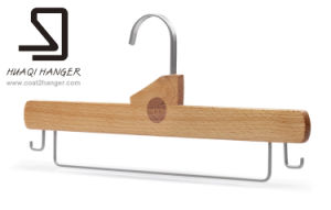 Huaqi Clothes Hanger with Bar, Wooden Clothes Hanger pictures & photos