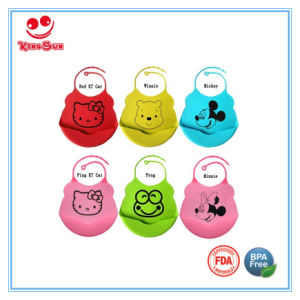 Baby Care Products Soft Cute Harmless Baby Silicone Bib pictures & photos