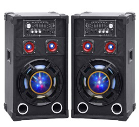 Wireless Double 10 Inch Professional Tower Speakers with Bluetooth and Colorful Light pictures & photos
