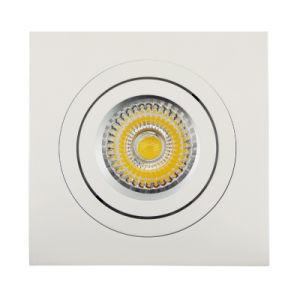 Lathe Aluminum GU10 MR16 Sauqre Tilt Recessed LED Spotlight (LT2301) pictures & photos