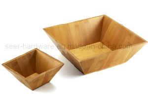 2PCS Set Square Shape Bamboo Salad Bowl (SE062) pictures & photos