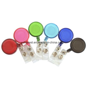 Round Shape Retractable Pull Badge Reel with Epoxy Logo pictures & photos