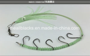 High Grade Luminous Fishing Lure/ Octopus Squid with Five Hooks& Steel Wire&Beads pictures & photos