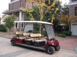 Red 8 Seat Electric Shuttle Golf Car pictures & photos