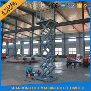 2t Scissor Hydraulic Freight Cargo Elevator Lift with Ce pictures & photos