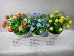 High Quality of Artificial Flowers Rose Bush of Gu-Jy912204313 pictures & photos
