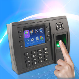 Self-Service Biometric Fingerprint Time Recording Terminal with Bar-Coder (TFT500) pictures & photos