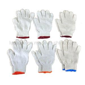 7 Gauge Bleach Color Working Cotton Glove (JF-CT029)