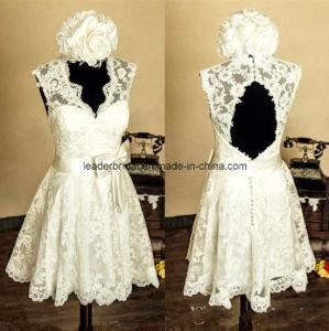 Short Lace Bridal Gowns Sash Cocktail Party Wedding Dresses Z8040 pictures & photos
