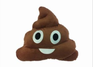 2016 New Product PP Cotton Poop Shaped Plush Emoji Pillow pictures & photos