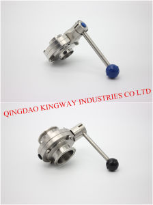 Sanitary Clamped Butterfily Valve with Pull Rod Handle pictures & photos