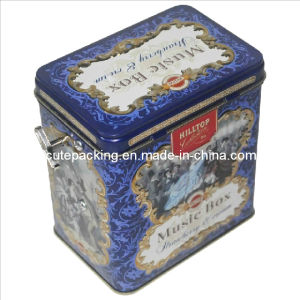 FDA Approved Tea Tin Box with Music Box (TB10)
