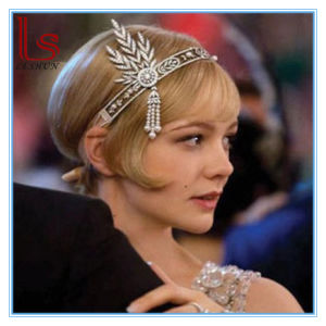 Gatsby High-Grade Bride Crown Hair Headwear Wedding Dress Accessories Headband Hair Ornament pictures & photos
