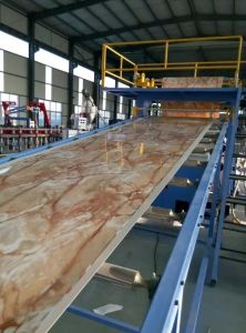 Plastic Iamitation Marble Board Branch /Plastic Lamination Sheet Branch Extrusion Line pictures & photos