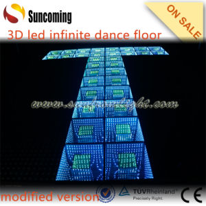 New RGB 3on1 LED Infinite 3D Mirror Wedding Dance Floor pictures & photos