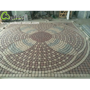 Red Yellow Grey Granite Paving Stone Design Pattern pictures & photos