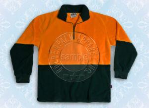 Reflective Safety Polar Fleece Jacket with Half Zipper pictures & photos