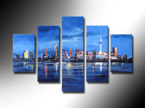 Handmade Modern Seacape Oil Painting on Canvas pictures & photos