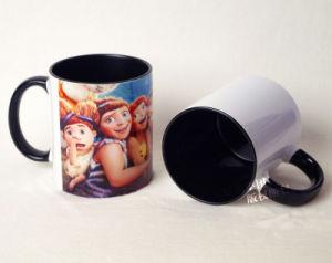 11oz Ceramic Black Inner & Rim Color Mug pictures & photos