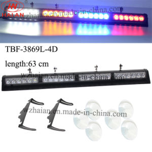 6 Suckers Mount Multi Color LED Windshield Light Bar (TBF-3869L-4D-W/A/B/R) pictures & photos