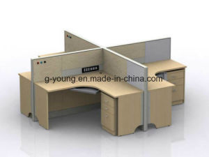Modern L Shape Wooden Table Workstation Office Furniture pictures & photos