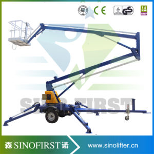 8m to 10m Hot Sale Towable Boom Lift with Ce pictures & photos