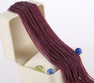 Wholesale Gemstone Loose Strands Small Size 2mm 3mm Natural Garnet Stone pictures & photos