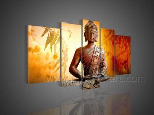 Handmade Buddhas Oil Painting on Canvas for Home Decor (BU-006) pictures & photos