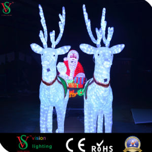 Outdoor Garden LED Santa Claus with Reindee Horse Carriage Christmas pictures & photos
