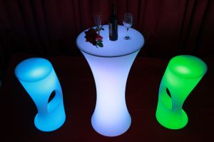 LED Light up Bistro Pub Restaurant Bar Stool pictures & photos