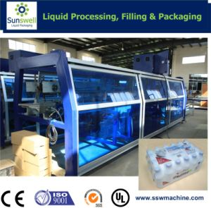 Automatic Film Shrinking Wrapper for Beverage Factory Business pictures & photos