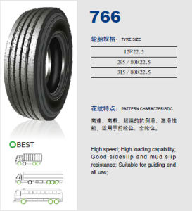 Annaite Brand New Radial Truck Tyre (766 12R22.5 295/80R22.5 315/80R22.5) pictures & photos