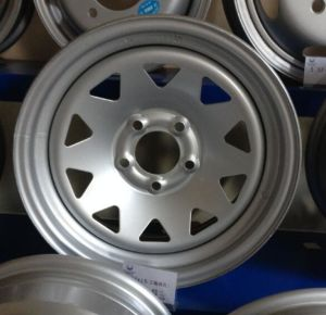 2017 New Supply 16X7 16X8 Inch Black /Sliver Steel Car Wheels Rims for Land Cruiser Car (235/85R16 Tyre) pictures & photos