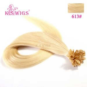 Keratin Nail Hair Extension Brazilian Remy Human Hair pictures & photos