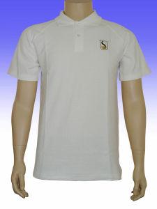 White Color Cheap Polo Shirts pictures & photos
