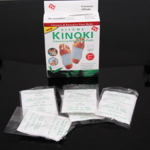 Kiyome Kinpki Detox Foot Pads Ginger Salt Constipation Treatment Detox Foot Patch pictures & photos