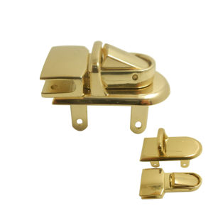 Custom Two Combination Parts Lock Gold Colored Bag Lock, Manufacturer pictures & photos