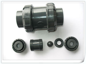 "Check Valve/PVC-U Double Union Ball Check Valve/ PVC Check Valve for Size Dn25 (1"")"