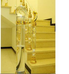China Fashine Crystal Glass Stair Railing Pillar