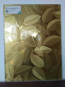5mm Color Patterned Glass Mirror, Golden Leaf Mirror, Decorative Glass pictures & photos