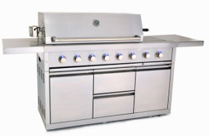 Aga/CE Certificate Full 304ss 8 Burner Gas BBQ Grill pictures & photos