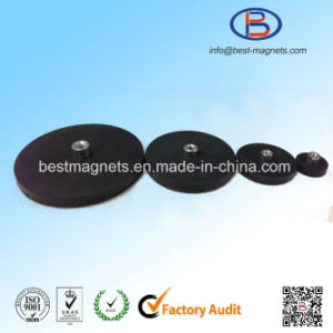 D22 Rubber Covering Pot Magnet Rubber Coated/Coating Permanent Magnet pictures & photos