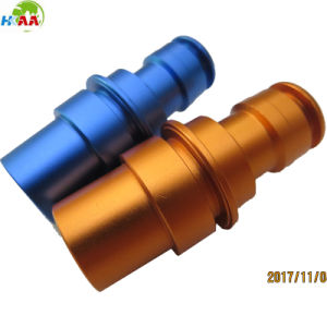 CNC Turned Aluminum Part as Thread Coupling for Auto Car pictures & photos
