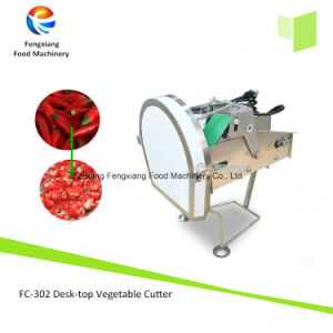 FC-302 Desk-Top Electric Leafy Vegetable Green Onion, Pepper, Banana Chips Cutter Cutting Machine, Chili Cutter pictures & photos